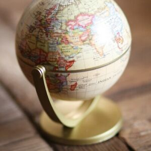 World Globe Ash Color Map Globe for Home Table Desk Ornament Decoration Gift New