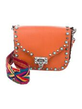 Orange Valentino Rolling Rockstud Bag Native Couture $2,675
