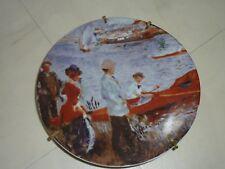 assiette decorative porcelaine de limoges reproduction renoir promenade à chatou
