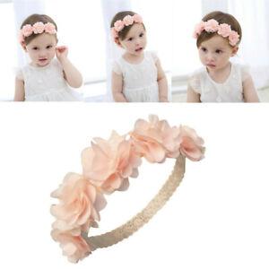 Toddler Baby Girls Kids Elastic Floral Headband Hair Infant Hairband Headwears