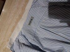 Camisa de vestir manga Larga SEBAGO cuello y puños Blancos /Rayas Blanco/azul
