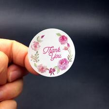 3.5cm Round Flower Labels Vintage Rose Pink Floral Thank you Label sticker 120PC