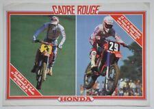 Catalogue Brochure Honda Cadre rouge Gamme Cross, Enduro et Trial 1986