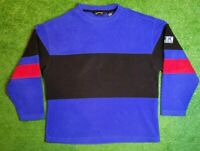Vintage Eddie Bauer EBTEK Striped Crewneck Pullover Mens Sweatshirt Medium