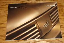 Original 2001 Oldsmobile Bravada Deluxe Sales Brochure 01