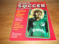 Football Magazine World Soccer March 1988 European Cup Quarter Finals Michel