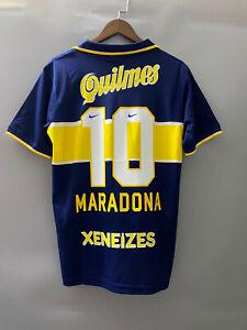 Boca Juniors Home 1997 Jersey Retro Short Sleeve 10 Maradona Football