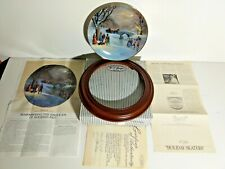 "Bradford Exchange ""Scenes of Christmas Past"" Lloyd Garrison 1987 Holiday Skaters"