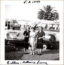 Los Angeles Women with Eskimo Pie 1947-1949 International Ice Cream Truck Photo