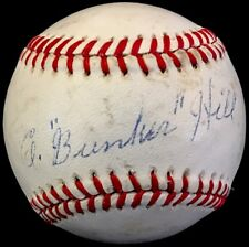 "SCARCE Carmen ""Bunker"" Hill d.90 JSA LOA Signed Baseball Pirates NY Giants STL"