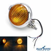 Universal Motorcycle Round Headlight H4 Bulb Head Lamp For Harley Chopper Bobber