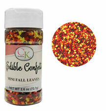Mini Fall Leaves Edible Confetti Sprinkles 2.9 oz from CK #11363