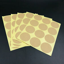 Brown Blank Dot Labels Round Natural Paper Sticker, Adhesive Label Sticker ~ 180