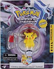 Pokemon PIKACHU Poke Ball Keychain Keyring Diamond Pearl Pika Retired S15 NEW