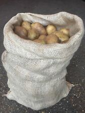 10 x 25kg Tela Di Iuta Iuta verdure Patate Sacchi Sacchi di archiviazione (NUOVO)