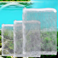 5X Nylon Mesh Aquarium Fish Tank Pond Filter Supplies Media Zip Net Bag 5 Sizes