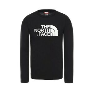 The North Face Y LS Easy Tee T-Shirt Bambina NF0A3S3B KY4 TNF Black TNF White