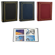 Arpan Plain 6'' X 4'' Photo Album with 200 Pockets Black, Blue or Burgundy