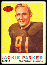 1959 TOPPS CFL FOOTBALL #43 JACKIE PARKER EDMONTON ESKIMOS MISSISSIPPI STATE