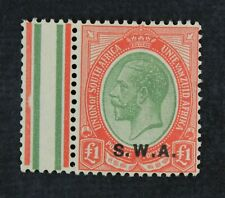 Ckstamps: Gb South West Africa Stamps Collection Scott#95 Mint Nh Og, Selvage Lh