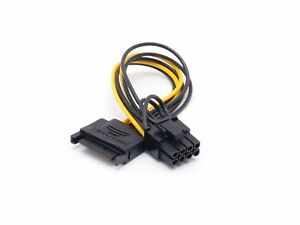 SATA 15 pin Male to 8 pin 6+2 PCI-Express PCIe Video Graphic Card Power Adapter
