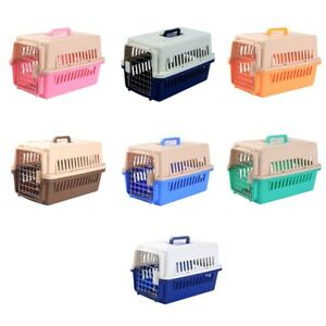 Dog Carrier Plastic Pets Transport Crate Durable Cat Carrier for Travel Outdoors