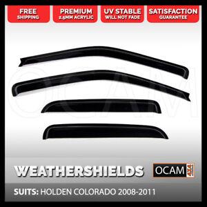 OCAM Weathershields for HOLDEN COLORADO 2008-2011 Window Door Visors