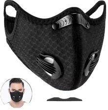 Sports Fitting Face MASK. WITH 6 EXTRA FILTERS 4KN*5 & 2PM2.5, Extra Valves.