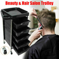 5 Tier Hairdressing Trolley Barber Beauty Salon Storage Rolling Cart Tools Rack