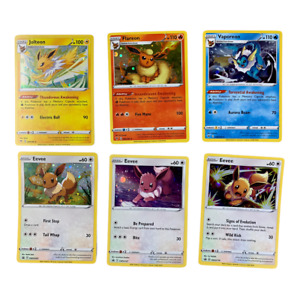 Pokemon Eevee Eeveelution Promos from Costco Exclusive Tin Collection Lot of 6