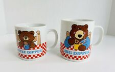 Vintage Avon Big Little Dipper Parent Child Cocoa Coffee Milk Mugs Cups Euc