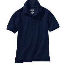 Boys School Uniforms Short Sleeve Polo Shirt Navy Blue Xl 14-16