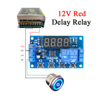12V LED Digital Display Timer Automation Delay Relay Programmable Module Switch