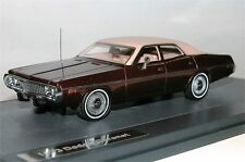 Matrix Scale Models, 1973 Dodge Coronet 4-Door Sedan, brown metallic, 1/43