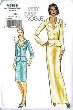 Vogue V8189 Peplum Jacket and Skirt Floor or Knee Length Size 8-10-12-14