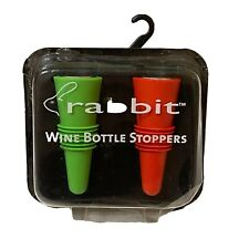 New listing Rabbit Wine Bottle Stoppers by MetroKane Red and Green New in Package