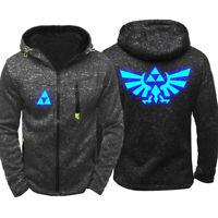 The Legend of Zelda Cosplay 3D Print Hoodie Sweatshirt Costume Zip Coat Jacket