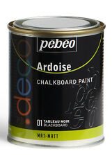 Pebeo Deco Chalkboard Effect Paint Matt Blackboard Colour 250ml