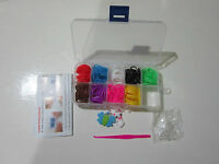 3000 Colourful Rainbow Rubber Loom Bands Bracelet Making Kit Set With S-Clips