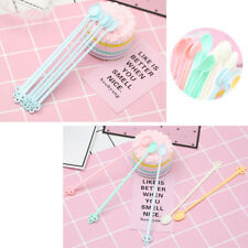 Candy Colored Plastic Mini Spoon Simulation Jelly Gadgets Tinted Coffee Spoons