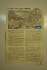 1/48ème  PLAN DE MONTAGE POUR YAK-9 de chez ICM