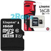 Kingston 16GB 16G Class 10 Micro SDHC SD TF Memory Card UHS-I U1 Mobile +Adapter