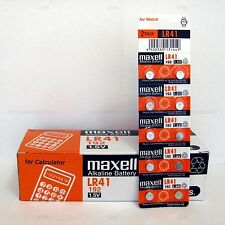 10 MAXELL LR41 AG3 392A 192 SR41 LR736 CX41 392 BATTERY