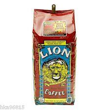 100% Kona coffee 24 oz WHOLE BEAN Lion Coffee Hawaii 24K