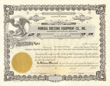 Mineral Dressing Equipment Company > Nevada mining stock certificate share
