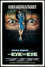 AN EYE FOR AN EYE original advance movie poster CHUCK NORRIS one sheet 27x41