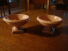 RED WING ART POTTERY 1548 2 COMPOTES Salmon Pink