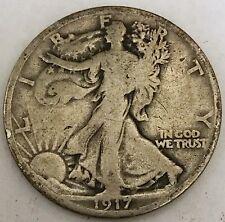 ** 1917 Walking Liberty Silver Half Dollar FREE SHIPPING!