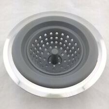 Kitchen Sink Strainer Basket Silicone Stainless Steel Drain Waste Stopper Plug