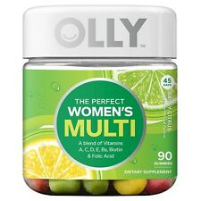 OLLY Perfect Women's Multi-Vitamin Gummy Supplements, Sassy Citrus, 90 Count